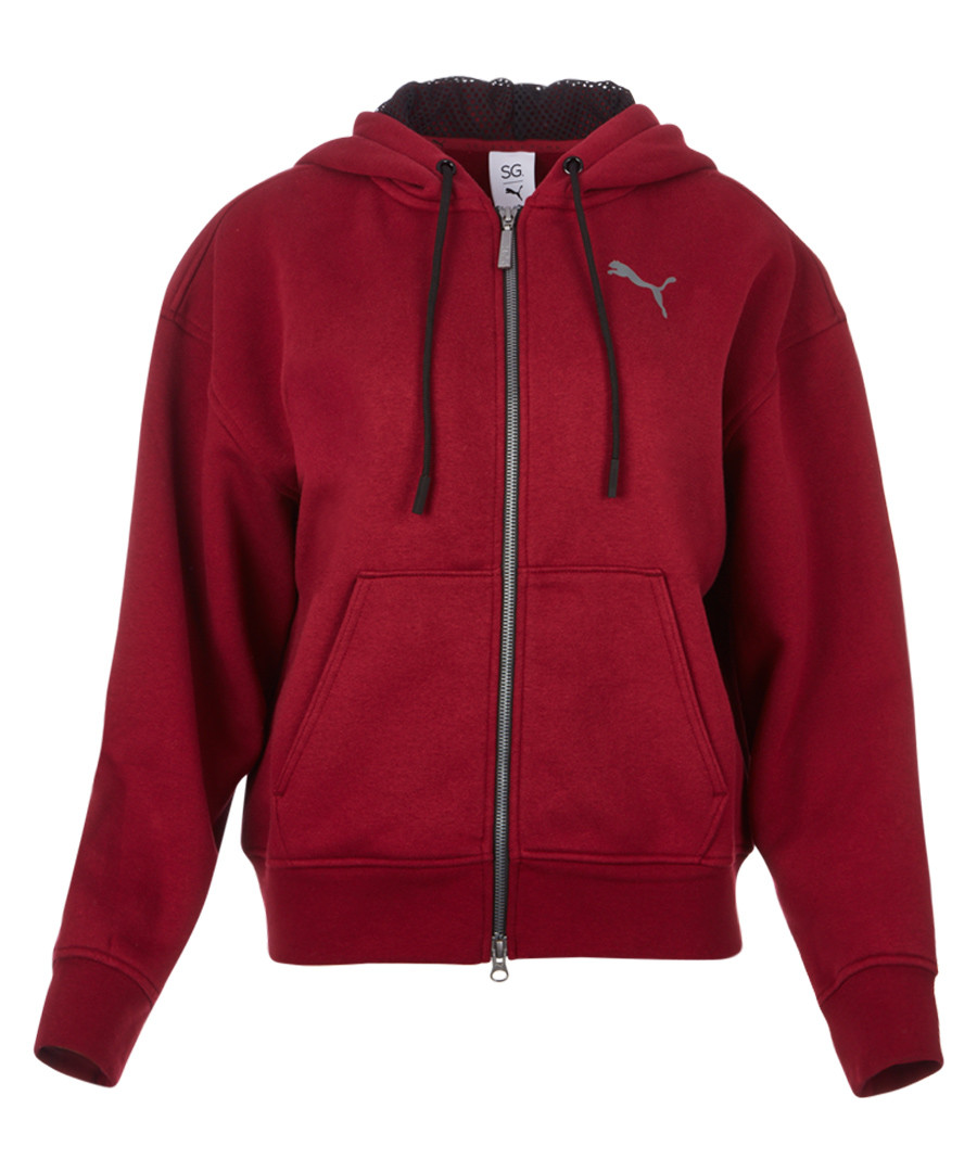 x SG FZ red cotton stretch hoodie Sale - puma