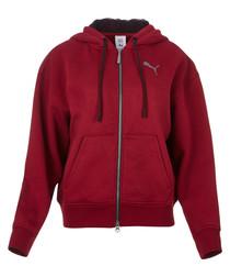 x SG FZ red cotton stretch hoodie