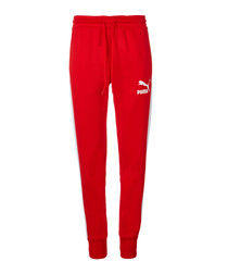Archive T7 red pure cotton joggers
