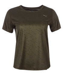 Olive graphic T-shirt