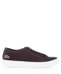 Black leather minimal sneakers