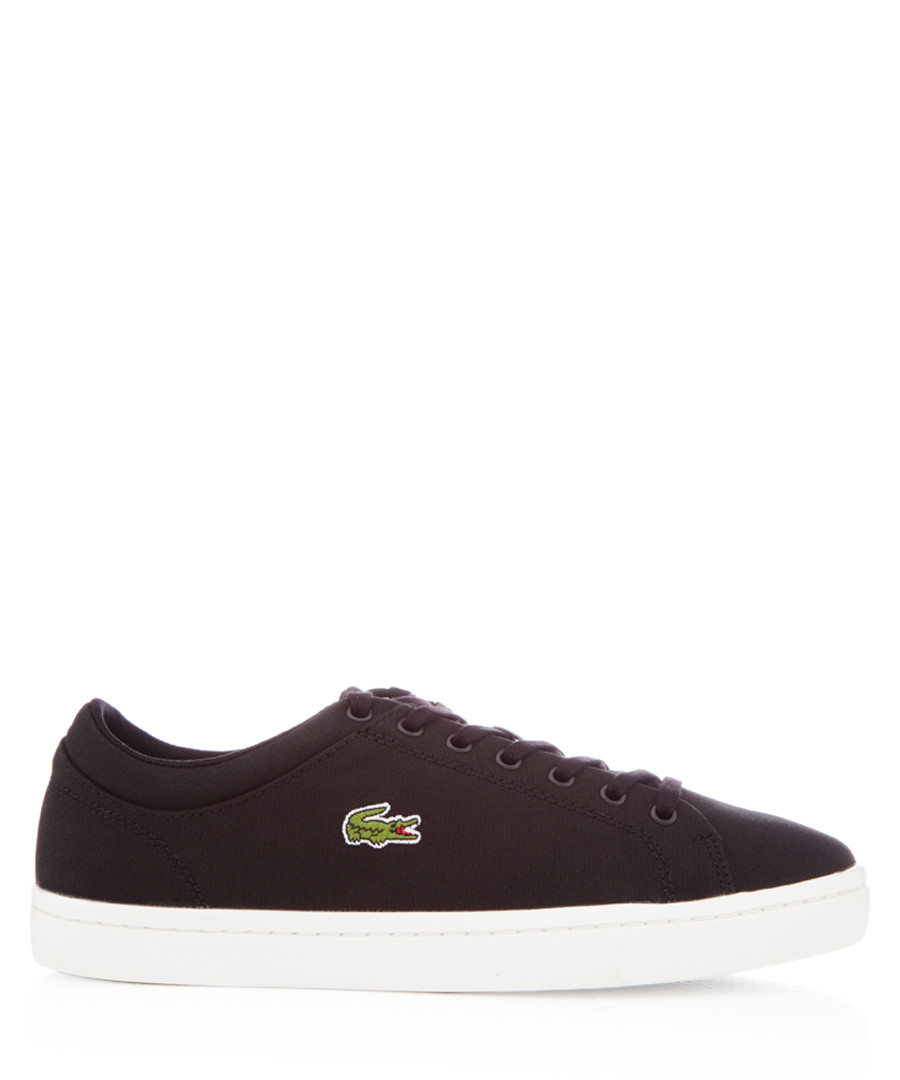 Straightset black canvas sneakers Sale - lacoste