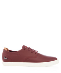 Espere burgundy leather sneakers