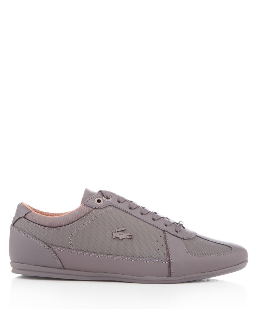 Evara grey leather sneakers Sale - lacoste