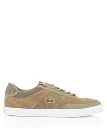 Court-master khaki leather sneakers