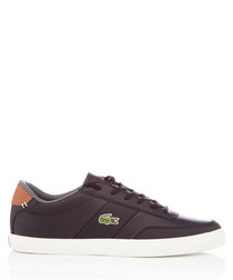 Court-master black leather sneakers