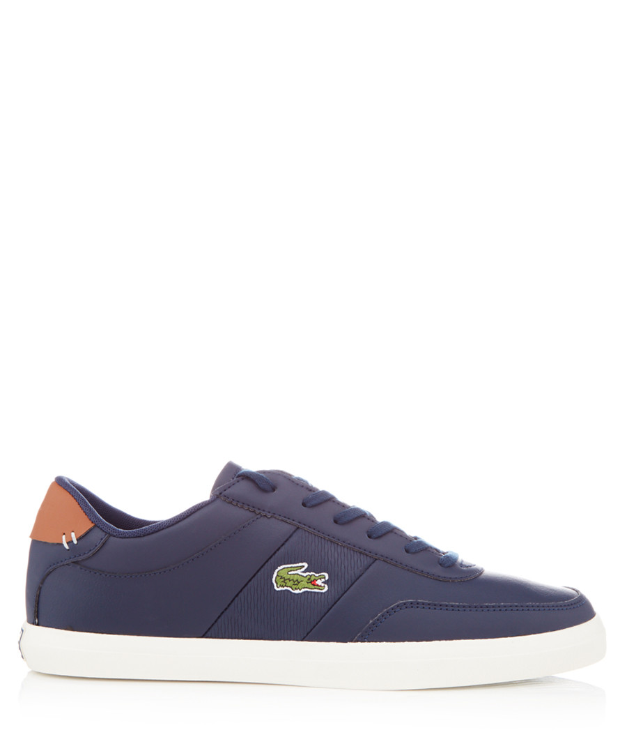 Court-master navy leather sneakers Sale - lacoste