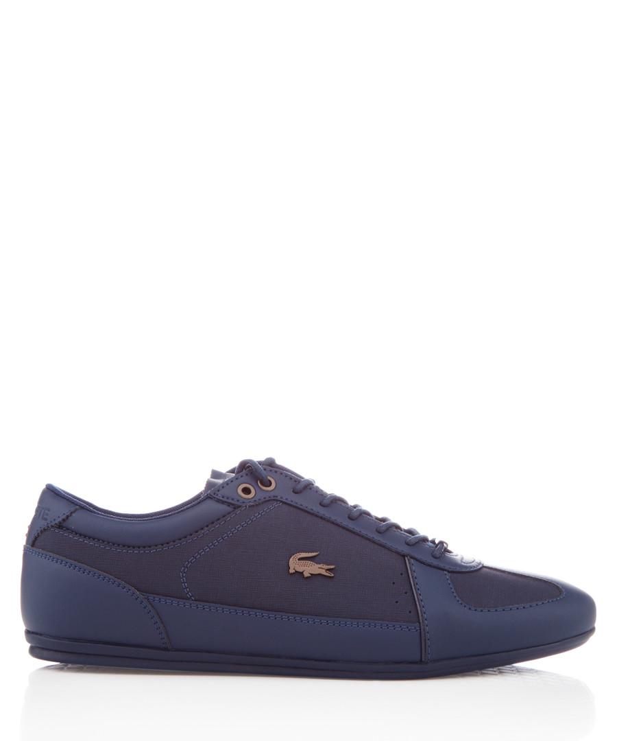 Evara navy leather sneakers Sale - lacoste