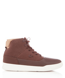 Explorateur brown leather high sneakers