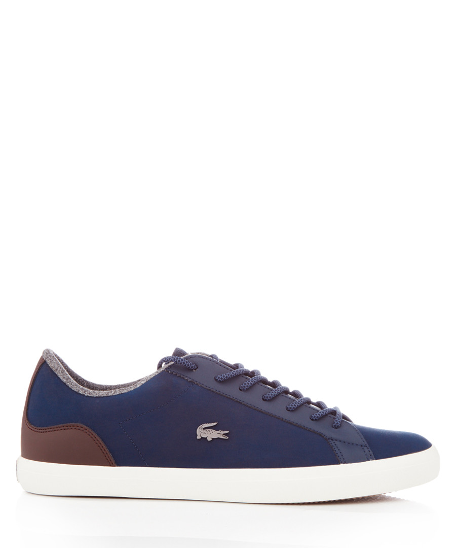 Lerond navy leather sneakers Sale - lacoste
