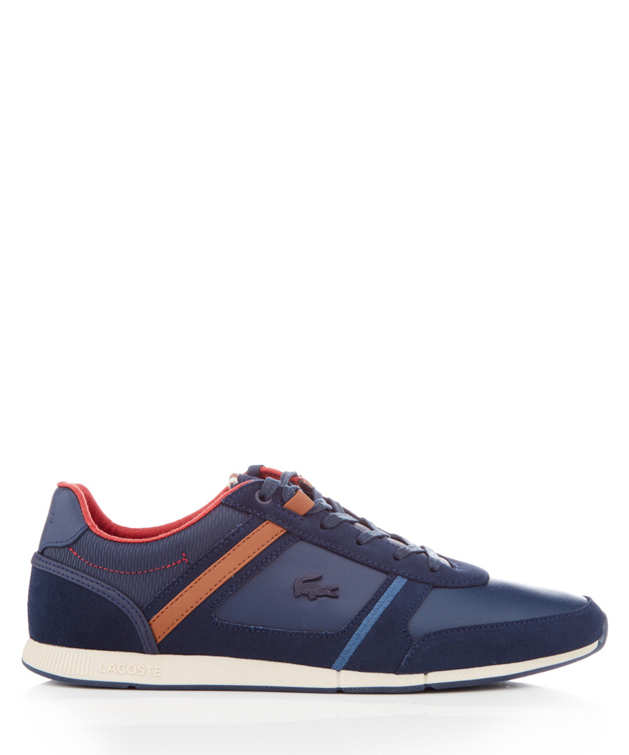 Menerva navy leather & suede sneakers Sale - lacoste