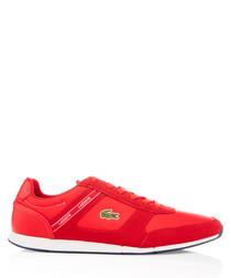 Menerva red textile & suede sneakers