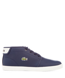 Ampthill navy leather mid sneakers