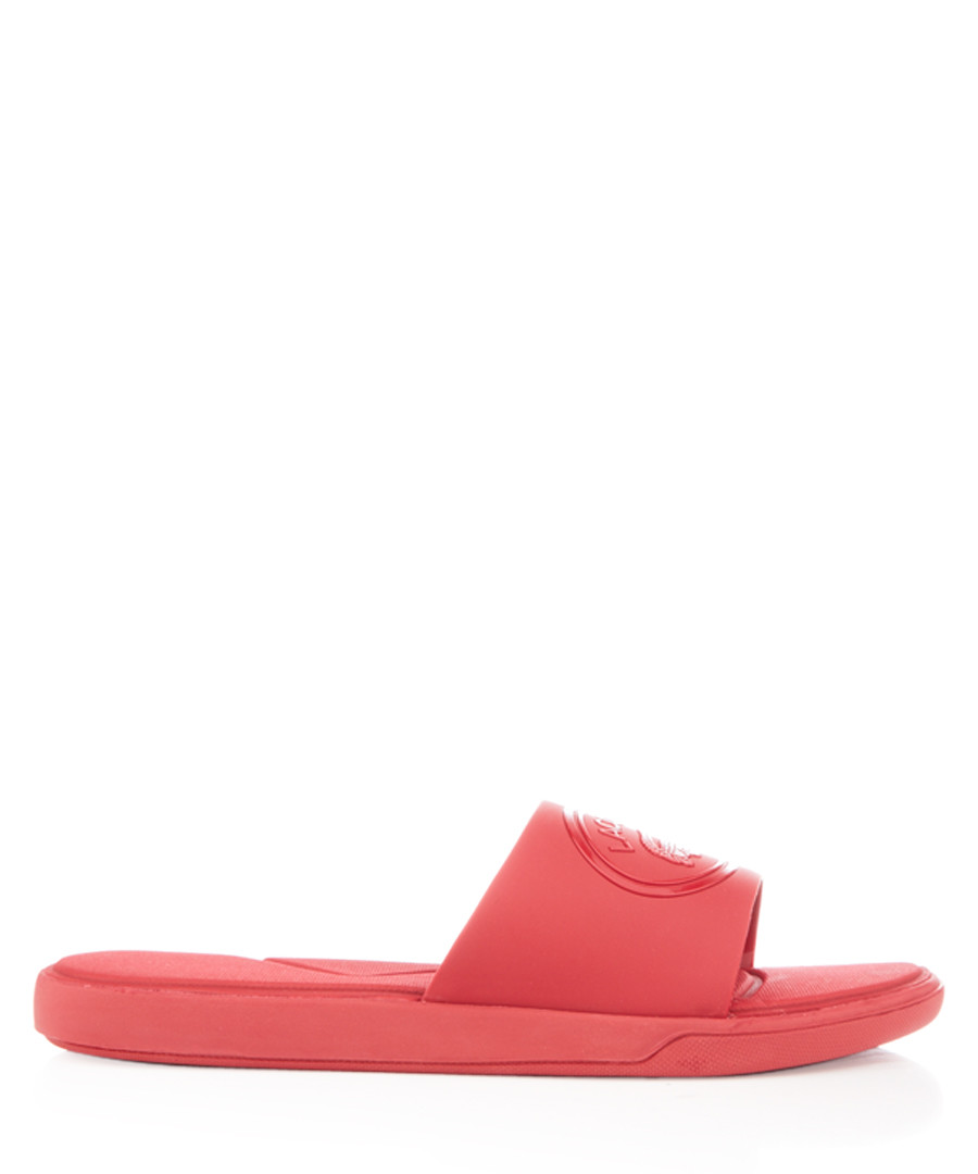 Red classic slides Sale - lacoste
