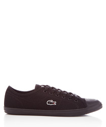 Ziane black textile sneakers