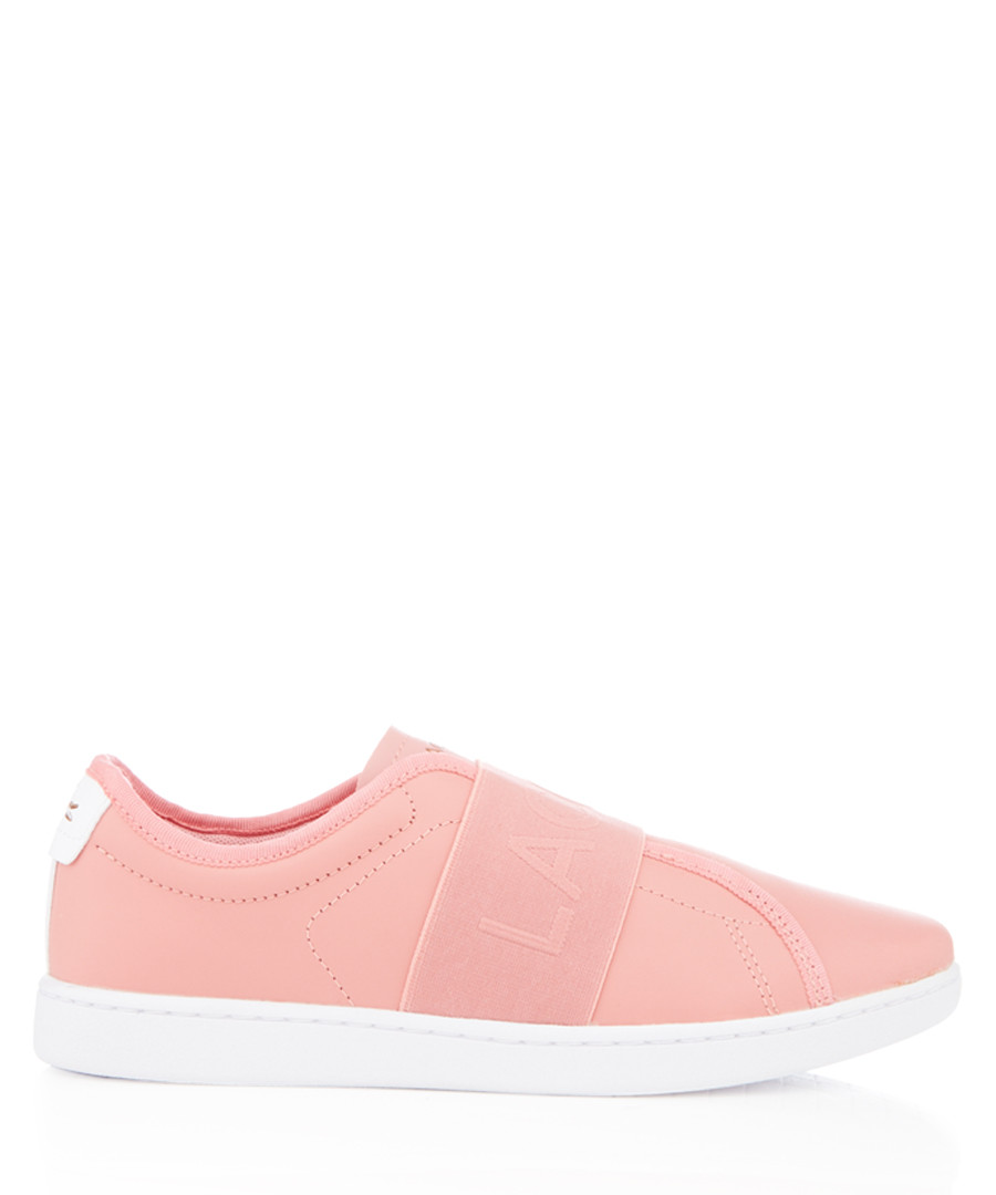 Carnaby Evo Slip rose leather sneakers Sale - lacoste