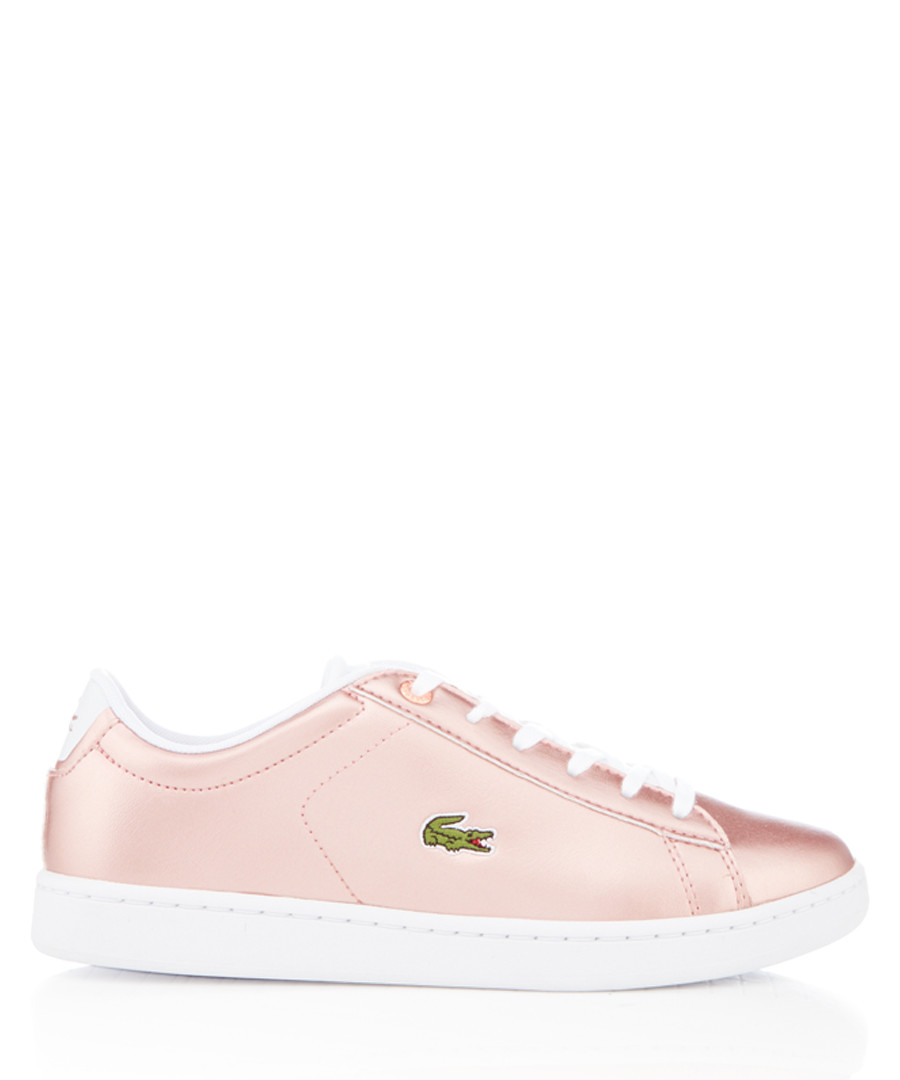 Carnaby Evo rose metallic sneakers Sale - lacoste