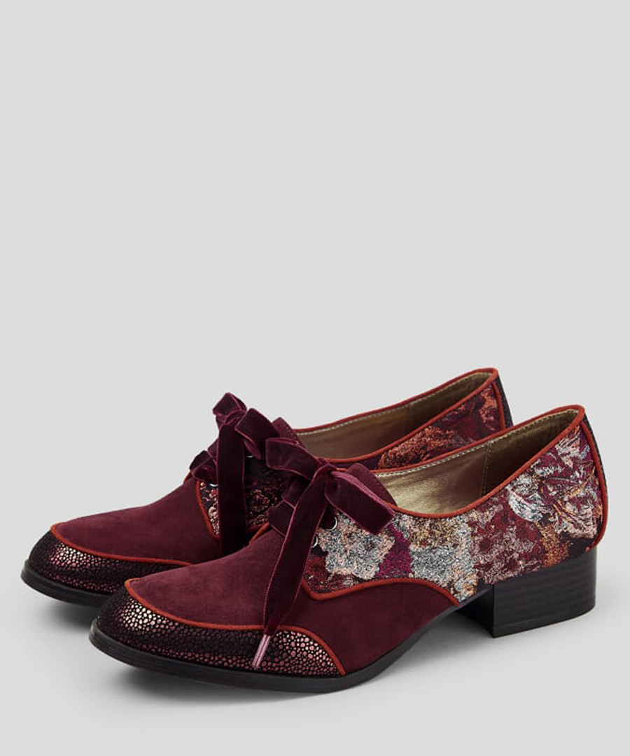 Micah bordeaux floral Derby shoes Sale - ruby shoo