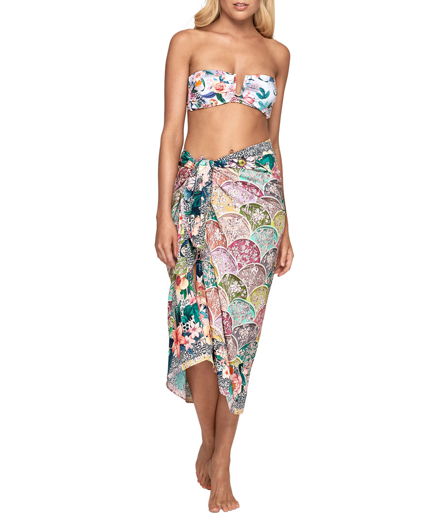 Gypsy pure silk pattern collage sarong Sale - JETS