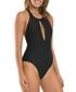 Disposition black halterneck swimsuit Sale - JETS Sale