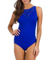 Parallels blue stripe swimsuit Sale - Jets Sale