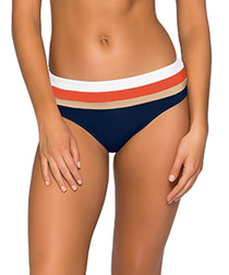 Ultraluxe Stripey peach bikini briefs