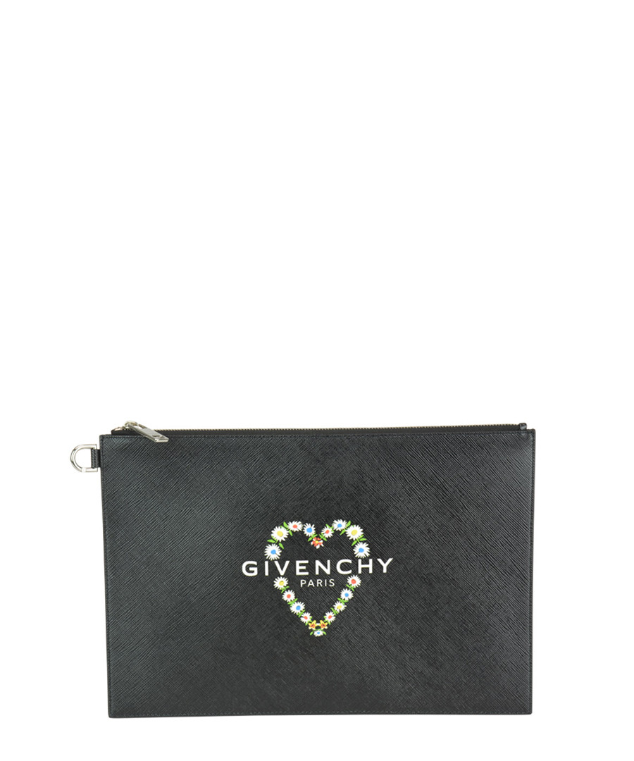 Black heart logo clutch Sale - givenchy