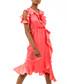 Coral ruffle cold-shoulder dress Sale - zibi london Sale