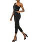 Black one-shoulder jumpsuit Sale - zibi london Sale