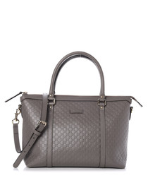 Guccissima grey leather shopper bag