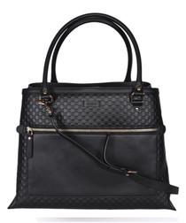 Guccissima large black leather shopper