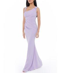 lilac asymmetric maxi dress