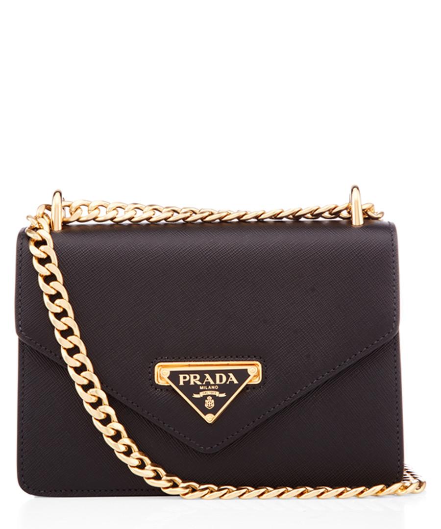 Black saffiano leather crossbody Sale - prada