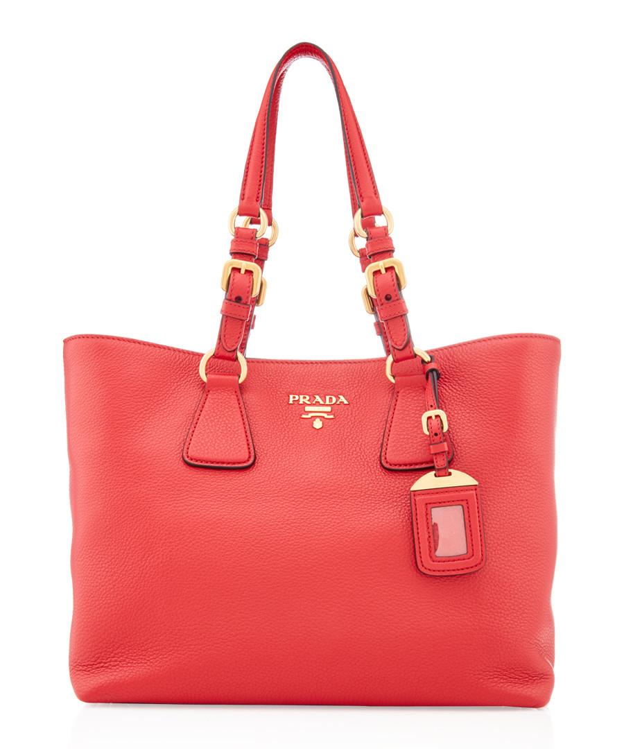 Vitello Phenix red leather tote bag Sale - prada