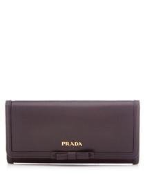 Vitello Move black leather long purse