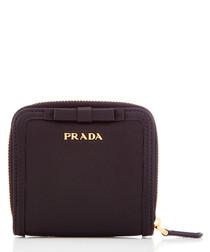Vitello Move black leather zip purse