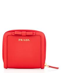 Vitello Move red leather zip purse
