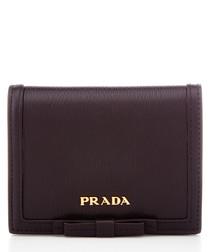 Vitello Move black leather short purse