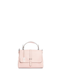 Pink leather grab bag