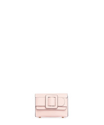 Sarteano pink leather crossbody bag