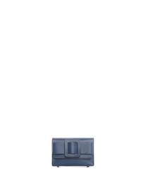 Sarteano dark blue leather crossbody bag