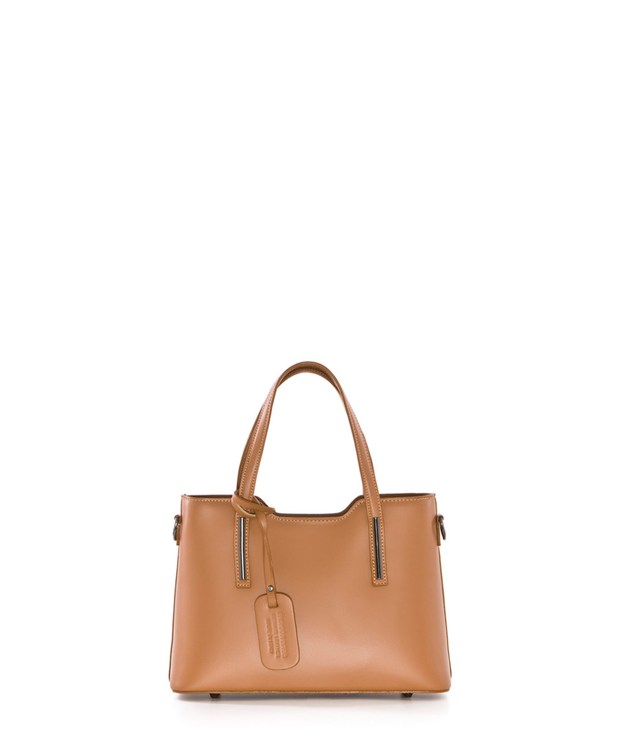 Monte Sirino tan leather grab bag Sale - pia sassi