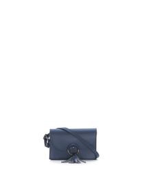 Monte Catria blue leather crossbody bag