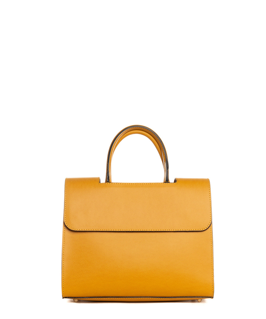 Monte Rosa yellow leather grab bag Sale - pia sassi