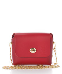 Ghemme red leather crossbody bag