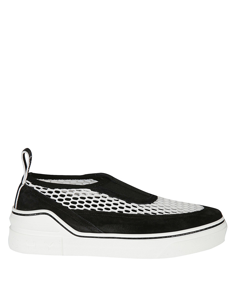 Black & white mesh & suede sneakers Sale - givenchy