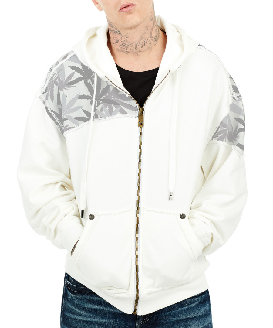 Ash & leaves pure cotton hoodie Sale - True Relgion
