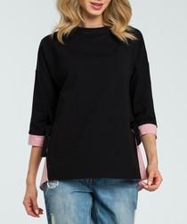 Black & red layered sweatshirt
