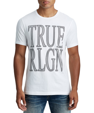 c87e4beb Chain Logo white pure cotton T-shirt Sale - true religion Sale