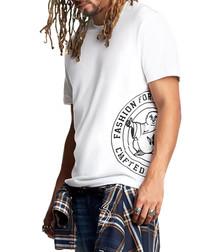 Buddha Crest white pure cotton T-shirt